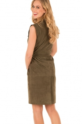 Suède jurk Ramona | groen