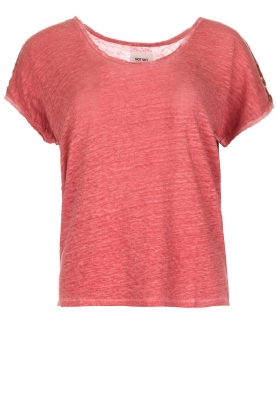 Not Shy |  Linen t-shirt Elisabeth | red