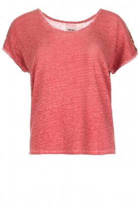 Not Shy | Linnen t-shirt Elisabeth | rood