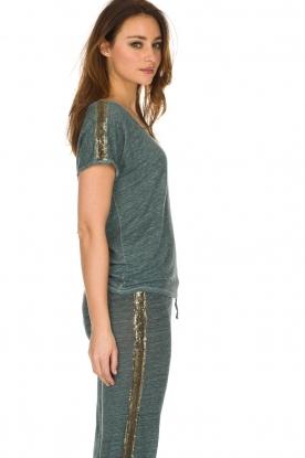 Not Shy   Linnen t-shirt Elisabeth   blauw