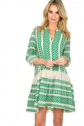 Devotion |  Printed dress Mirah | green