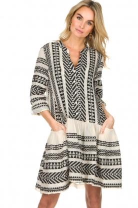 Devotion |  Printed dress Mirah | black & white