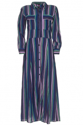 Freebird |  Striped maxi dress Gabriella | blue