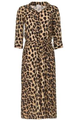 Freebird |  Midi dress with leopard print Victoria | animal print