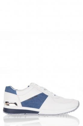 Leather  sneakers Allie | White - Denim