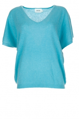 Not Shy | Kasjmieren top Francesca | blauw