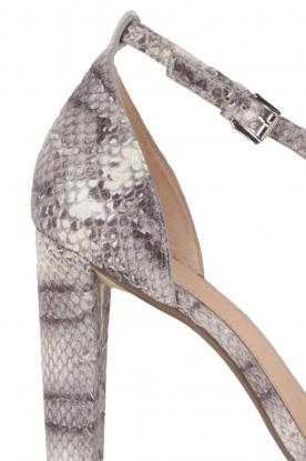 MICHAEL Michael Kors | Leren sandalen Divia | slangenprint grijs