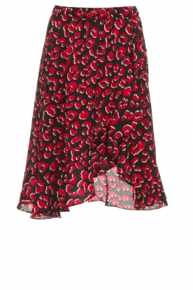 Lolly's Laundry |  Leopard skirt with ruffles Bertha | print