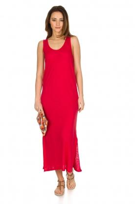 Not Shy | Linnen jurk Pascale | rood