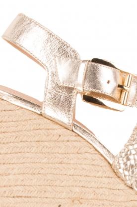 MICHAEL Michael Kors | Leren sandaal Giovanna | licht goud