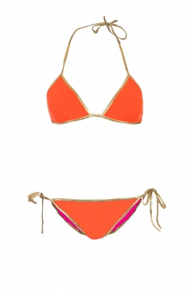 Tooshie |  Reversible triangle bikini Hampton | orange/pink