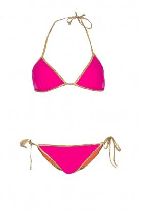 Tooshie | Tweezijdige triangelbikini Hampton | oranje/roze