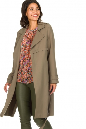 Arma |  Wrap coat Gabine | green
