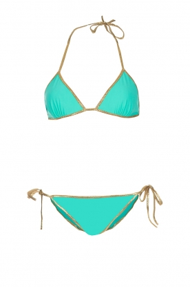 Tooshie |  Reversible triangle bikini Hampton | aqua blue