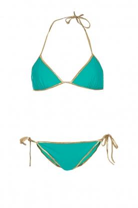 Tooshie | Tweezijdige triangelbikini Hampton | aquablauw