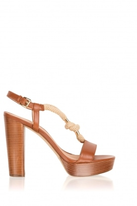 MICHAEL Michael Kors |  Leather sandal Holly | brown