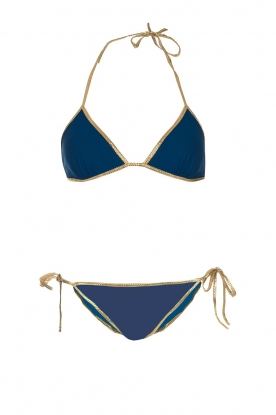 Tooshie |  Reversible triangle bikini Hampton | blue