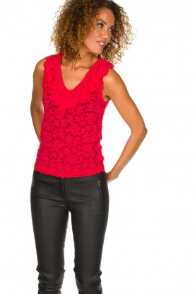 Rosemunde | Lace top Rosalie | red