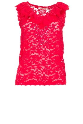 Rosemunde |Lace top Rosalie | red