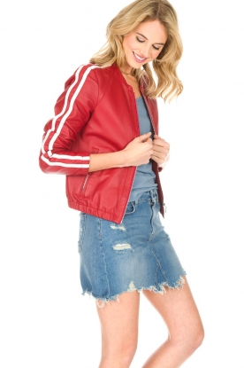 Arma |  Leather Jacket Passoa | red