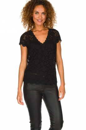 Rosemunde | Lace top Sarah | black
