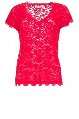 Rosemunde |Lace top Sarah | red