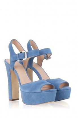 MICHAEL Michael Kors | Leren sandalen Kincade | blauw
