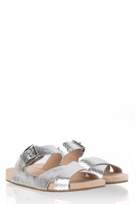 MICHAEL Michael Kors | Leren sandaal Sawyer | zilver