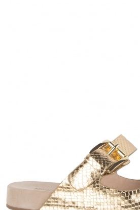 MICHAEL Michael Kors | Leren sandaal Sawyer | goud