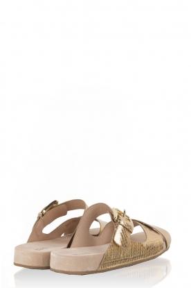 Leather sandal Sawyer | gold