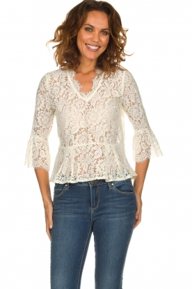 Rosemunde |   Lace top Sophia | white