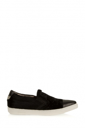 SVNTY |  Leather slip-on Georgie | black glitter