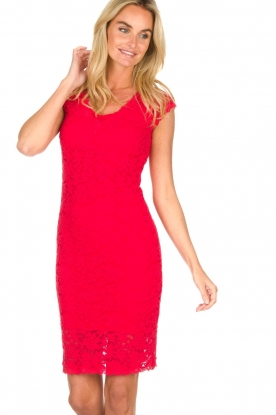 Rosemunde | Lace dress Rosa | red
