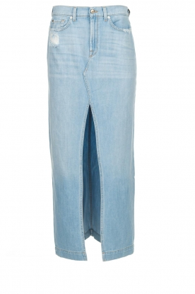 7 For All Mankind |  Denim skirt with slit Puck | blue
