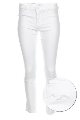 7 For All Mankind | Cropped skinny jeans Jazz | white