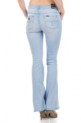 Lois Jeans | Flared jeans Raval lengtemaat 32 | blauw