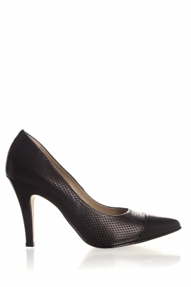 Noe | Embossed leather pumps Nicole | black