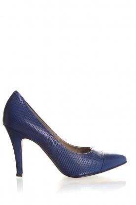 Leren pumps Nicole  blauw