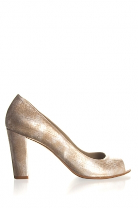 Noe | Leather pumps Nicoline | metallic