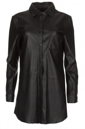 Arma | Leren blouse Monty | zwart