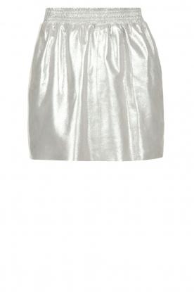 Arma | Zilveren rok van 100% geitenleer Chrisette | zilver