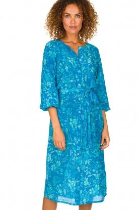Essentiel Antwerp | Zijden midi jurk Selim | blauw
