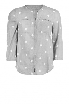 Blouse Dot | grey and white