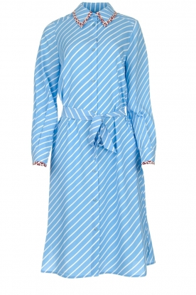 Essentiel Antwerp |  Striped dress Sama | blue