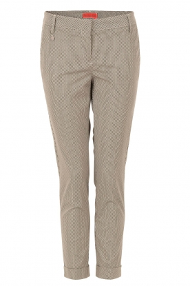 Pantalon Dot | zwart-wit