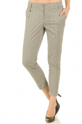 Manila Grace | Pantalon Dot | zwart-wit