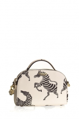 Essentiel Antwerp | Shoulder bag with print Iris | white