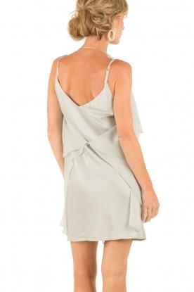 Hoss Intropia | Zijden jurk Romee | lichtgrijs