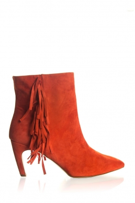Janet & Janet | Suede boots Adele | red