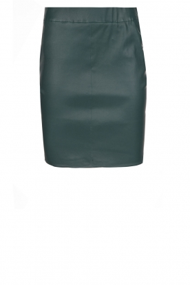 Dante 6 |  100% lamb leather skirt Love | green